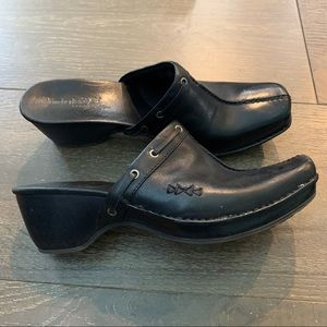 Timberland Clogs Mules Black Leather Shoes 8.5